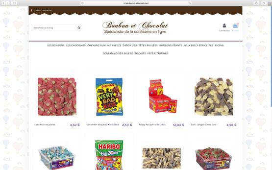 création site e-commerce prestashop pour le leader français de la vente confiserie en ligne à prix discount !