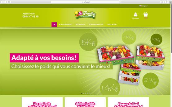 création site e-commerce prestashop en suisse : vente par abonnement des box de fruits et légumes
