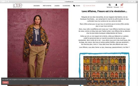 reprise puis la création de la nouvelle boutique en ligne sous prestashop : la boutique des marques à Paris