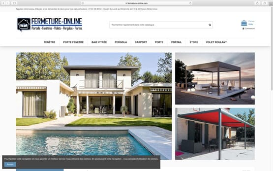 reprise et création site e-commerce prestashop : menuiserie en ligne à prix discount