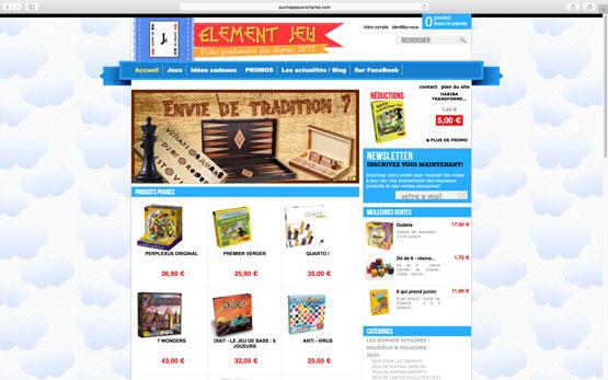 création site e-commerce prestashop pour la boutique de jeux à montauban
