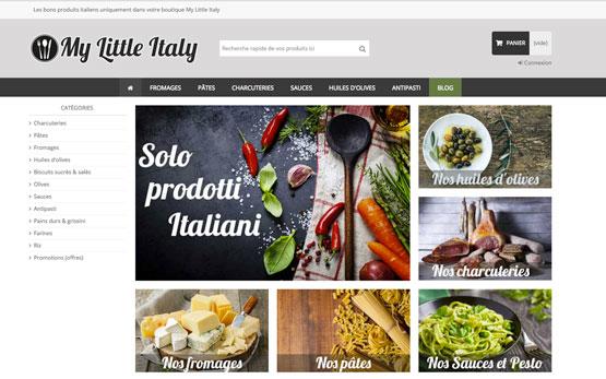 création site e-commerce en suisse : vente à distance des produits italiens