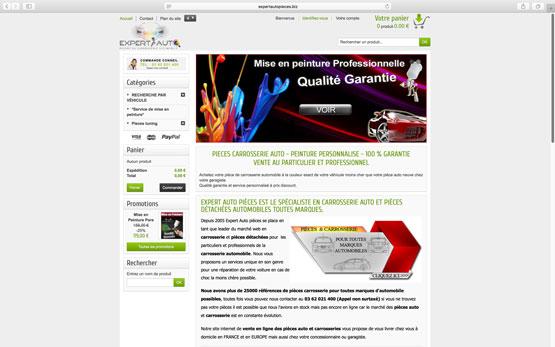 migration puis la création site e-commerce sous prestashop pour ce vendeur de carrosserie en ligne
