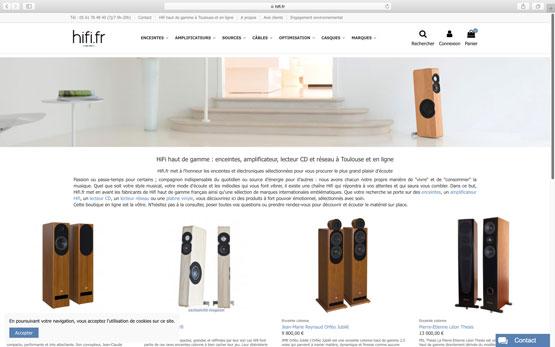 Création site e-commerce Prestashop boutique en ligne haut de gamme hifi