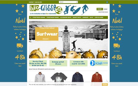 création boutique en ligne prestashop pour les vêtements de sport de gliss