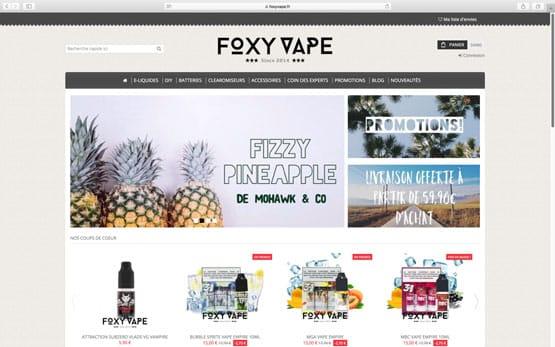 nous avons crée cette boutique en ligne sous prestashop pour un client qui souhaitait vendre en ligne des cigarettes électroniques ainsi que les e-liquides