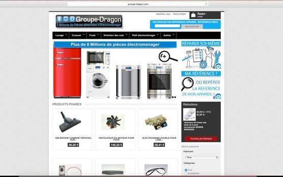 reprise et création site e-commerce prestashop nouveau design pour ce grossiste en pièce détaché électroménager