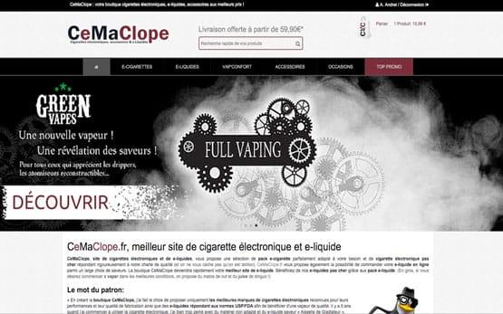création site prestashop de zero pour la vente des cigarettes électroniques