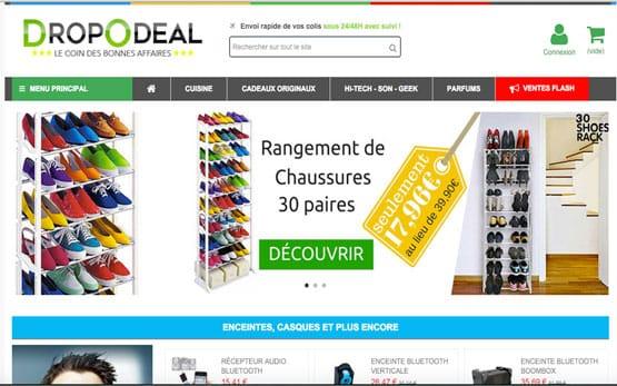 création site e-commerce dropshipping Prestashop, vendre en ligne sans stock