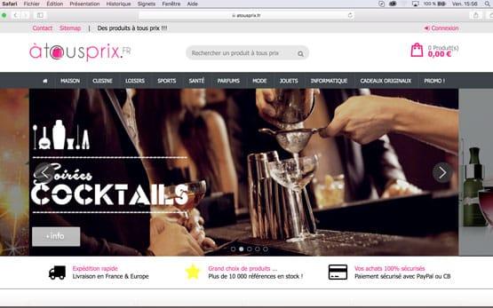 création site e-commerce en dropshipping sous prestashop pour vendre en ligne des produits en flux tendu