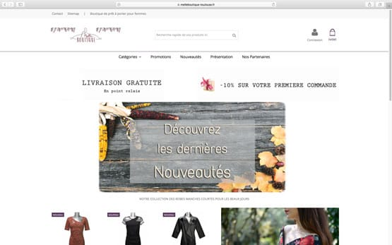 Migration powerboutique vers prestashop : boutique de vêtements