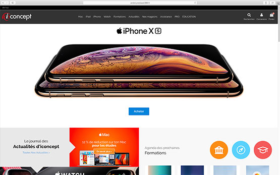 création site e-commerce prestashop | migration depuis wordpress revendeur apple iconcept
