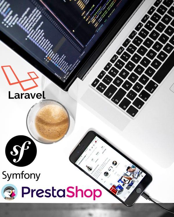 developpement specifique prestashop , développement laravel toulouse, développement symfony