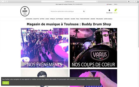 Création boutique en ligne dans l'univers de la musique