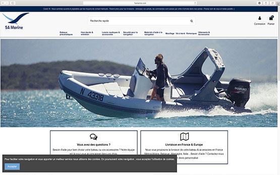 Expert e-commerce sous Prestashop : création boutique en ligne dans l'univers de bateau